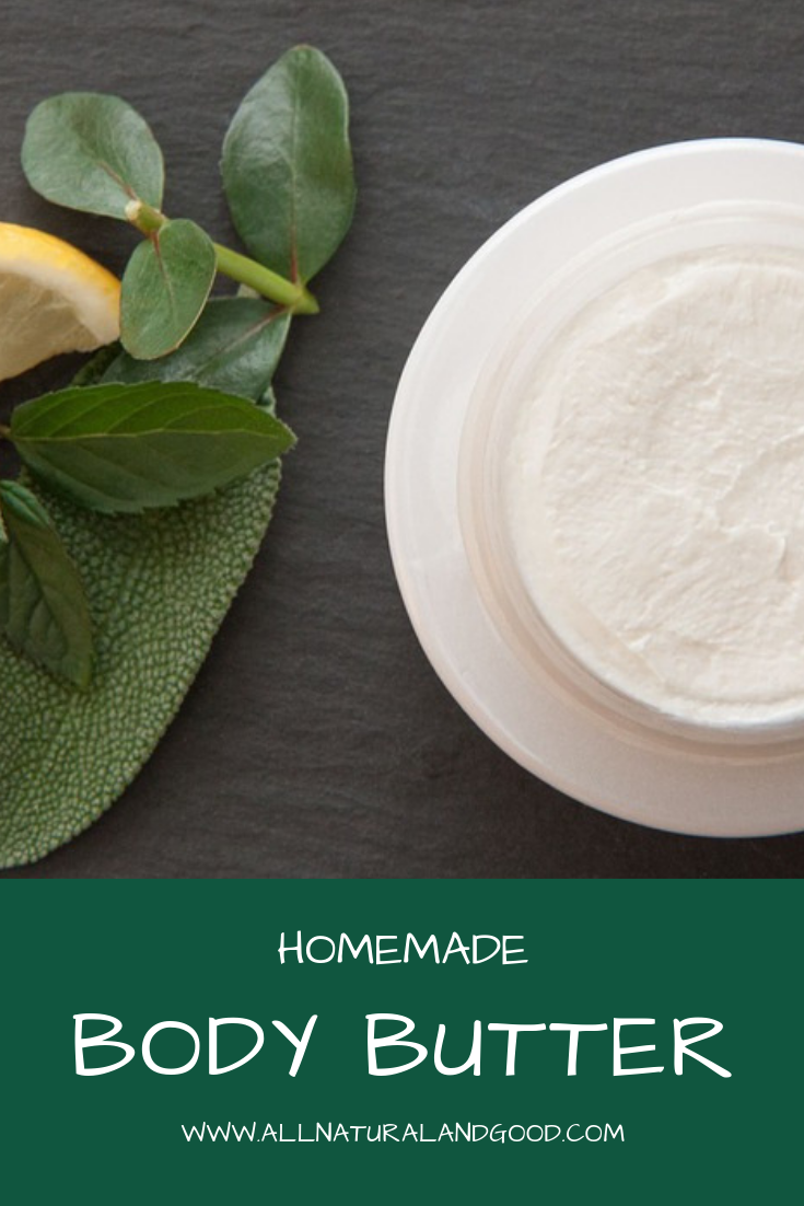 Make your own homemade all natural body butter with this easy recipe.