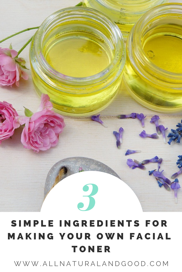 How to make your own homemade facial toner with three simple and natural ingredients.