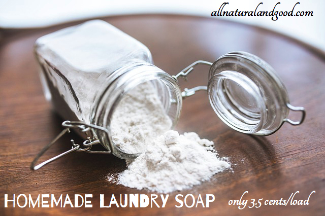 Homemade Laundry Soap - Only 3.5 Cents/Load! - All Natural & Good