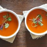 Tomato Basil Soup With Meatballs