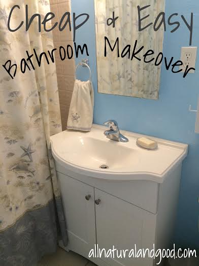 cheap easy bathroom makeover - Cheap Bathroom Makeover