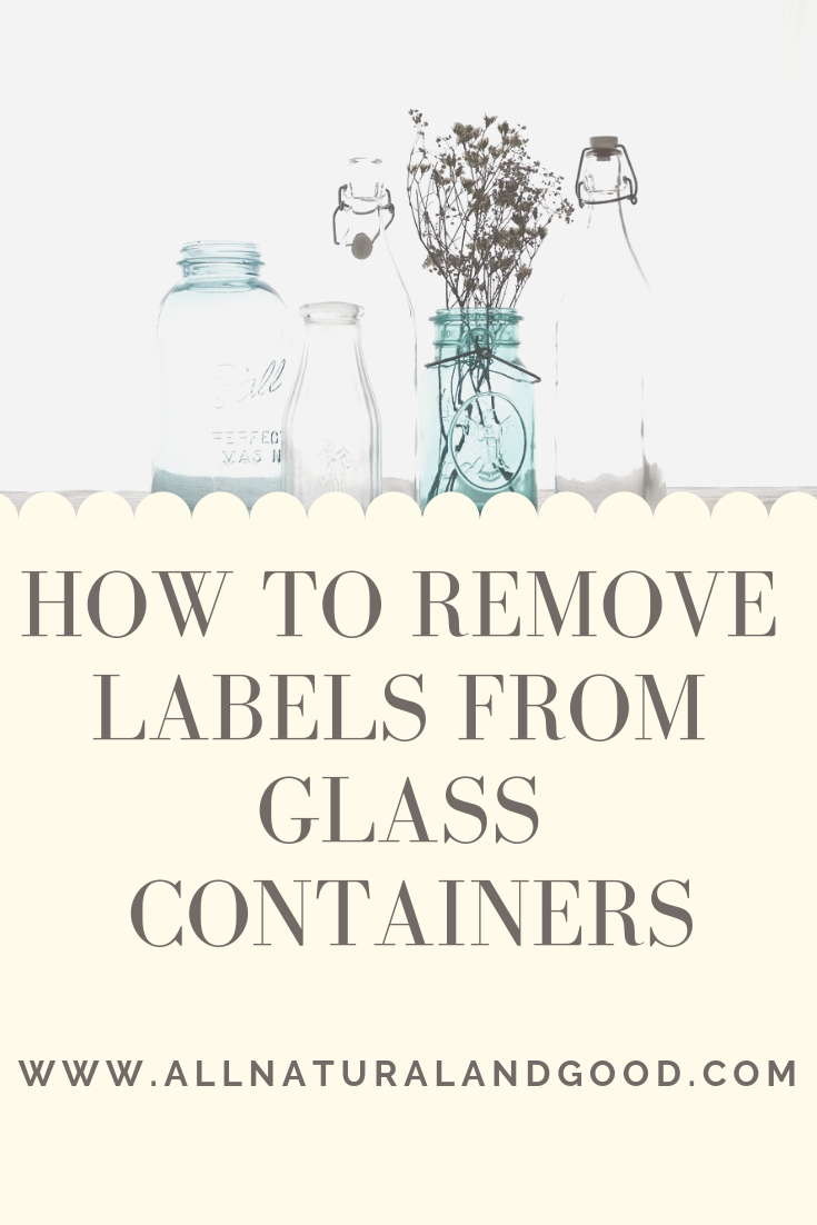 How to easily remove labels or stickers from glass bottles, jars and containers and how you can reuse it for something else!