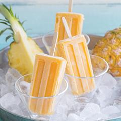 Pineapple Ginger Lemonade Popsicles