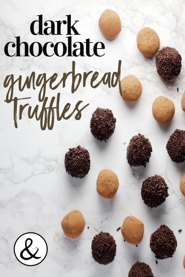Dark Chocolate Gingerbread Truffles