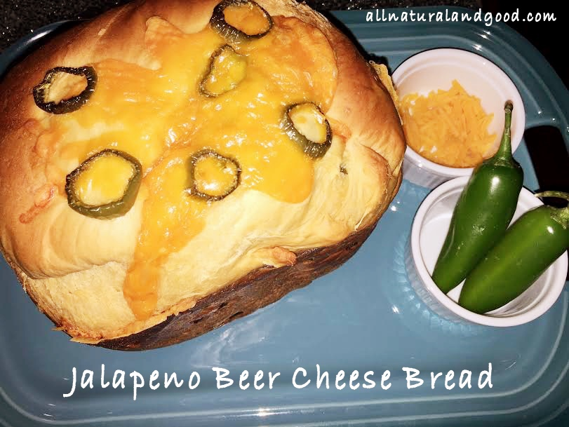 Jalapeno Beer Cheese Bread - All Natural & Good