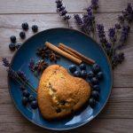 Banana Blueberry Lavender Muffins