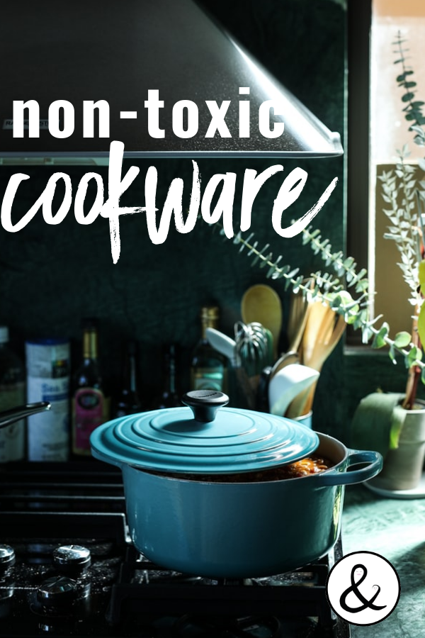 Here is everything you need to know about the toxic chemicals in cookware and the natural alternatives for safe and healthy cooking. #nontoxic #cookware
