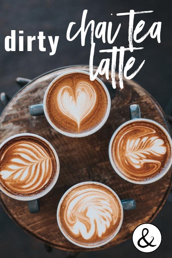 Dirty Chai Tea Latte