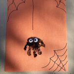 Spider Hand Print Craft