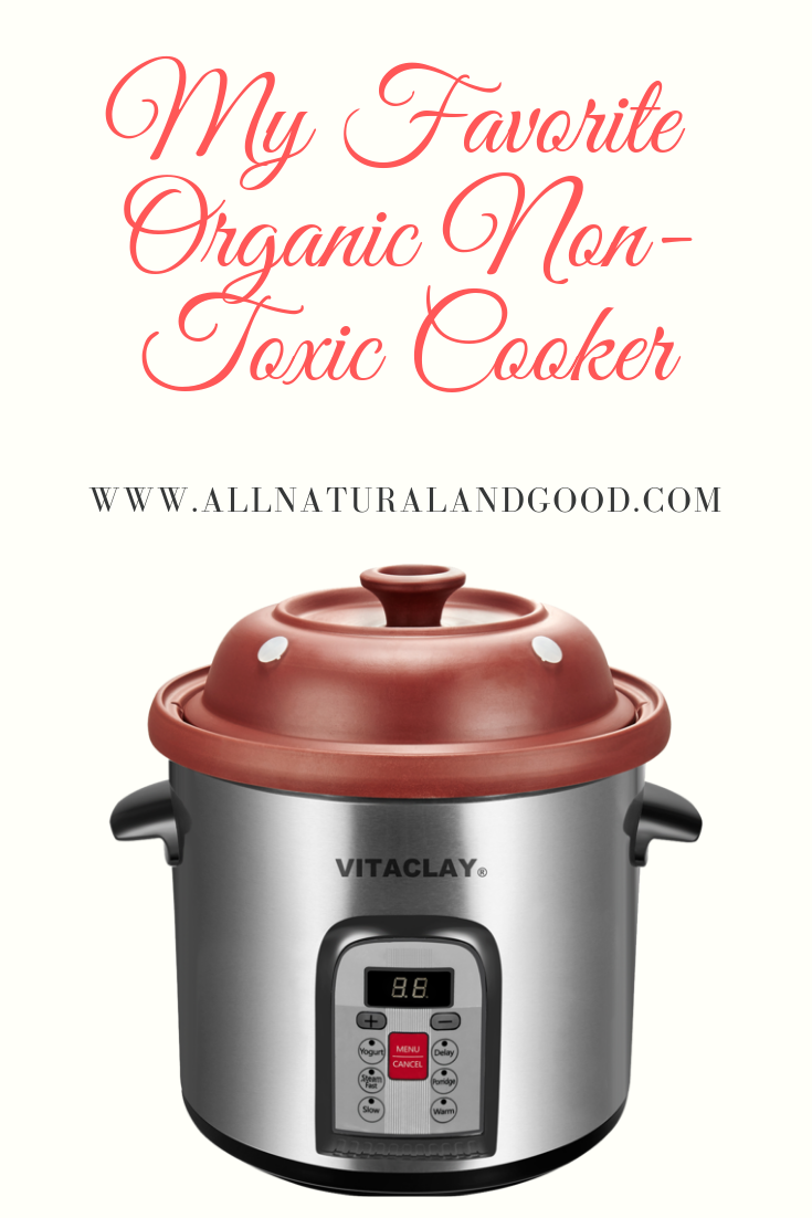 The VitaClay organic non-toxic cooker is the perfect all-in-one quick cooker. The clay pot preserves nutrients and flavors for cooking quick healthy meals.