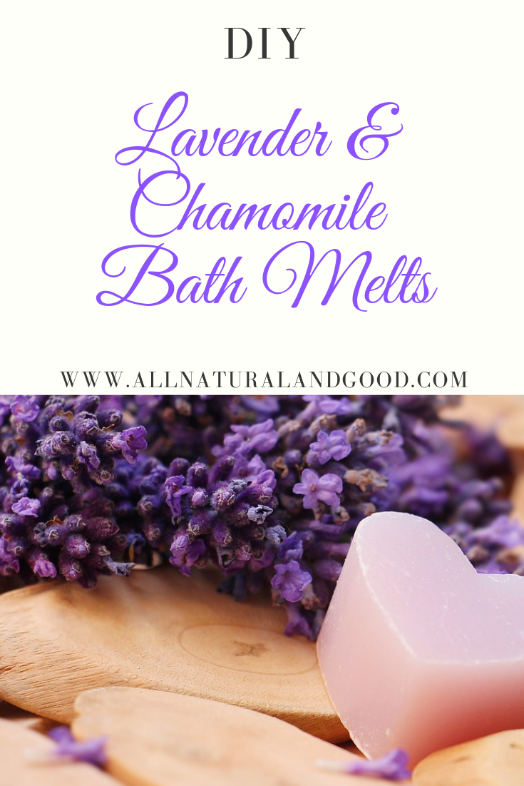 Homemade lavender and chamomile bath melts are a great addition for a relaxing bath and smooth skin.