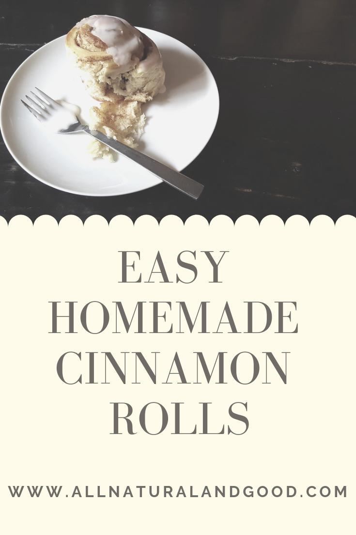 Easy homemade cinnamon rolls recipe (dairy-free & vegan) with orange glaze.