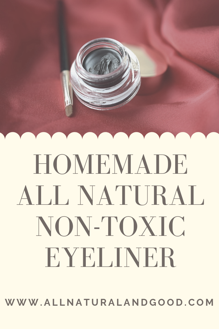 Homemade DIY natural cream gel eyeliner using activated charcoal.