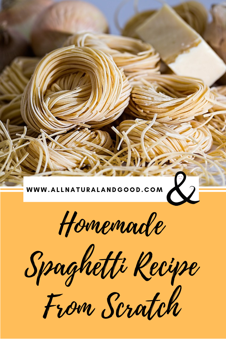 Homemade spaghetti from scratch is unlike any other pasta you will ever eat! It tastes so fresh and leftovers last for days.