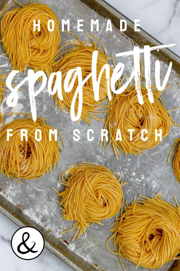 Homemade Spaghetti From Scratch