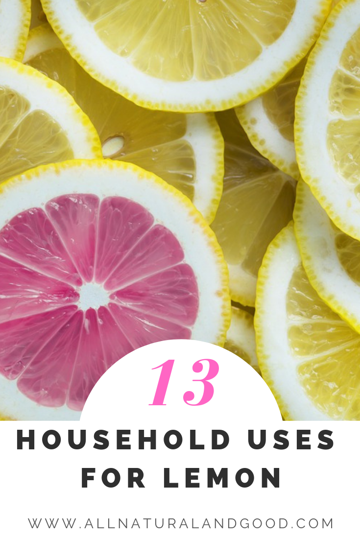 Here are ways to use old lemons or extra lemons at home for cleaning, cooking, skin care and health. #lemon #lemonuses #naturalcleaning