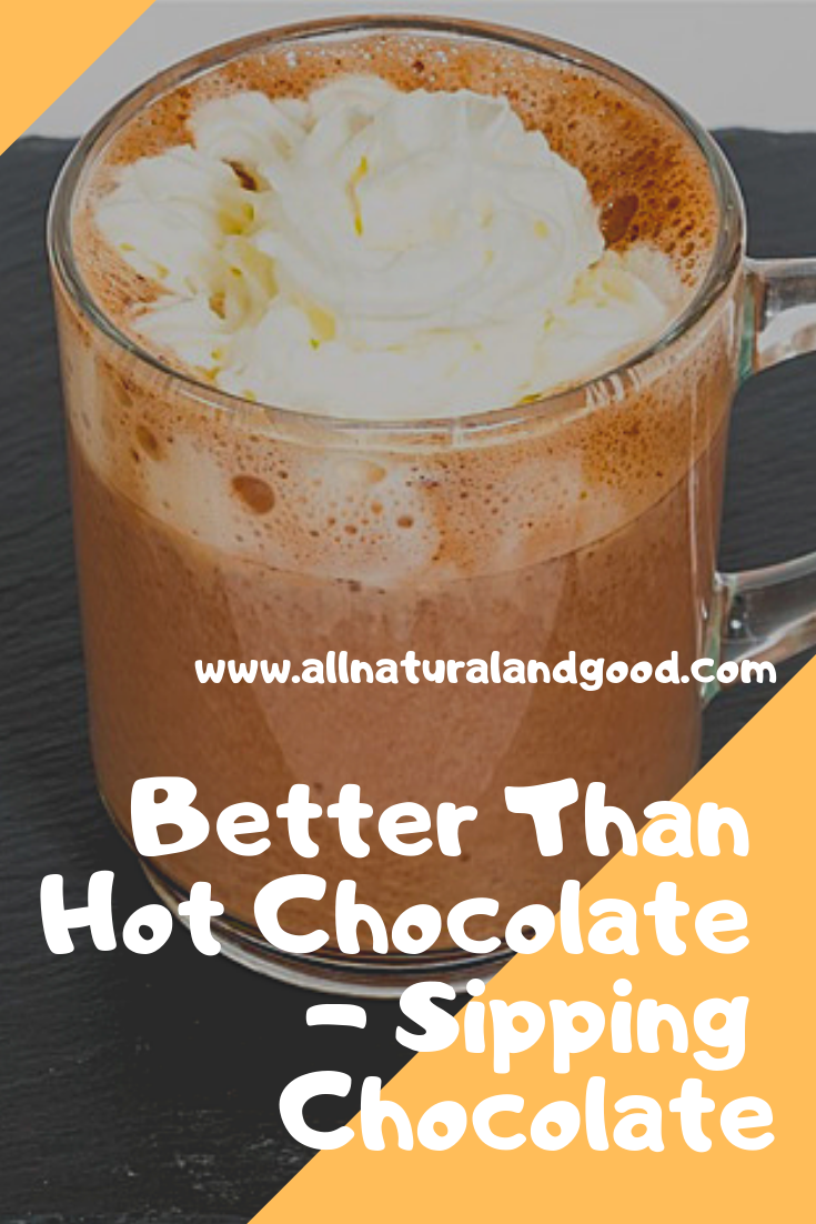 Sipping chocolate is a rich, high fiber, low sugar European drink. This recipe is better than hot chocolate. Sipping chocolate for the win!