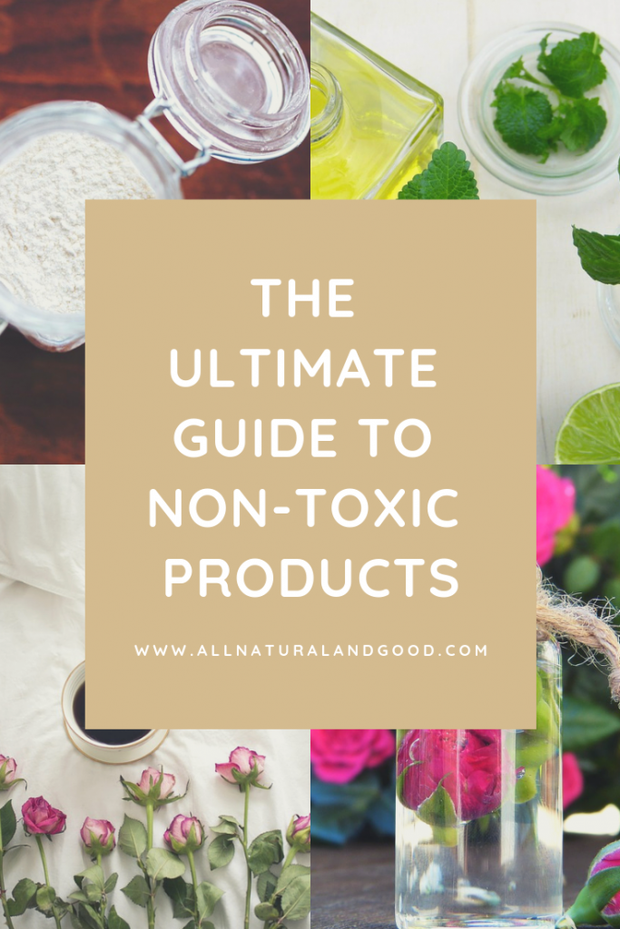 The ultimate guide to non-toxic products: non-toxic cookware, non-toxic mattresses, non-toxic makeup, non-toxic nail polish, non-toxic sunscreen and which dangerous and toxic ingredients to avoid. #nontoxic #naturalproducts #toxicfree