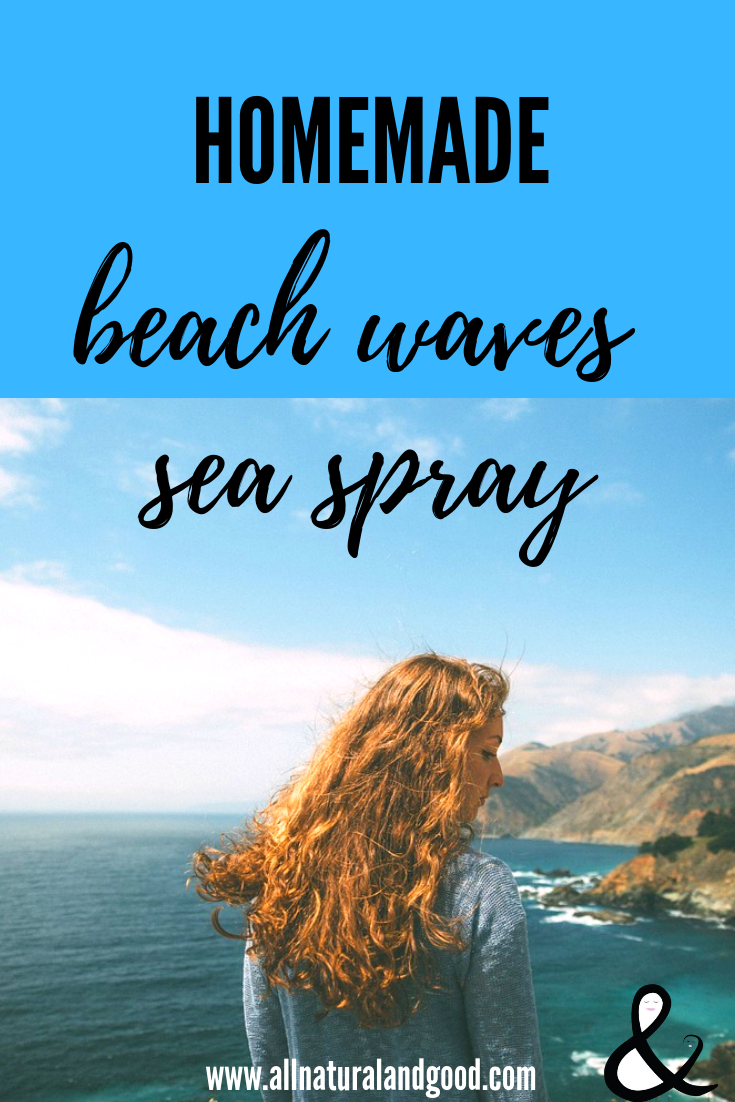 Homemade beach waves sea spray gives you beachy hair all year long. This DIY recipe uses all natural ingredients.
