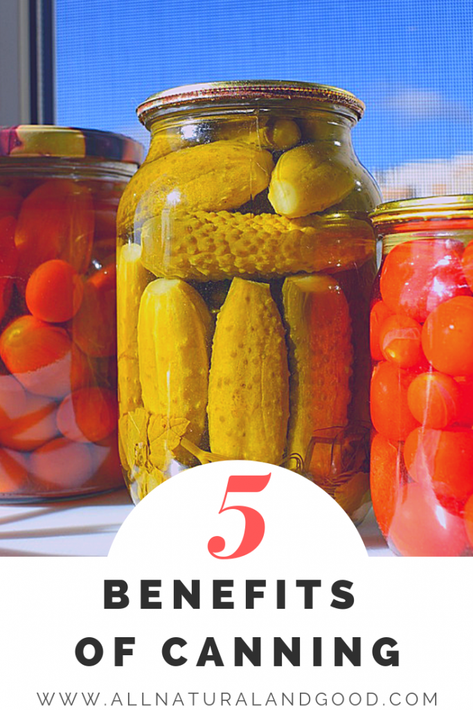 Top Five Benefits of Canning