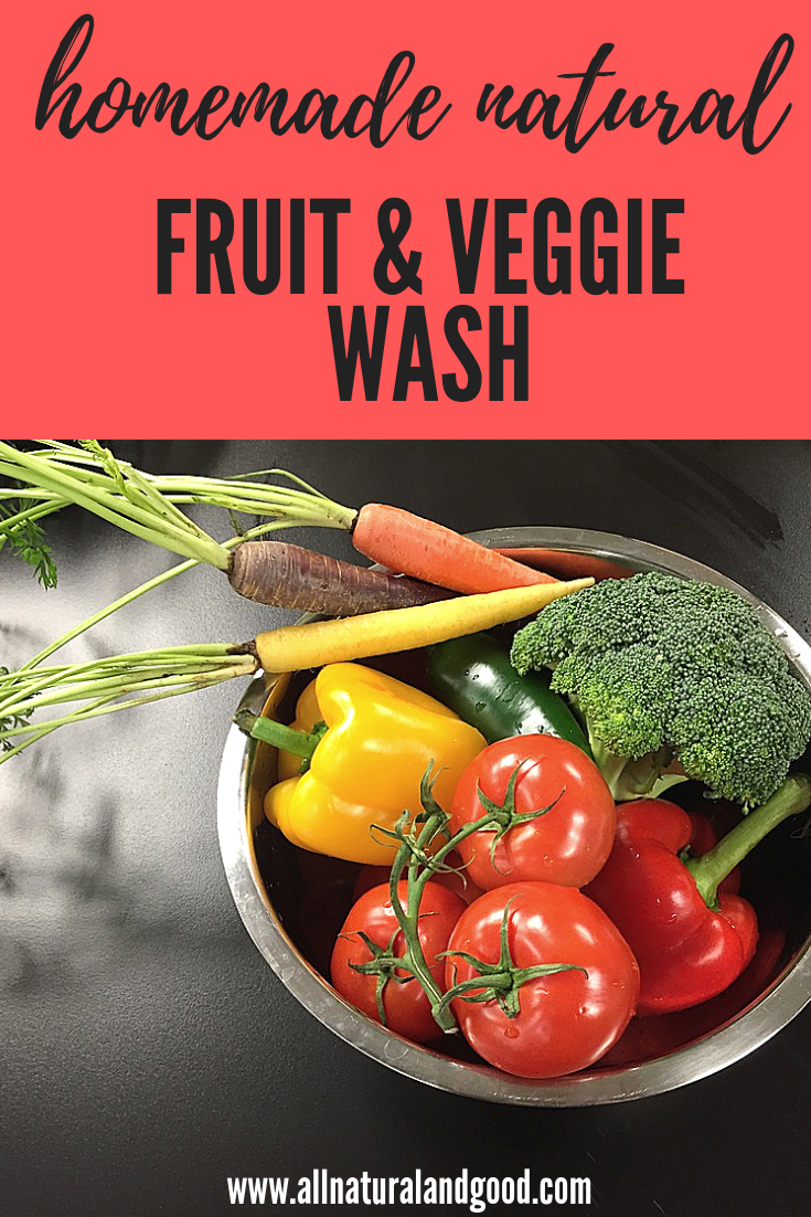Homemade Natural Fruit and Veggie Wash