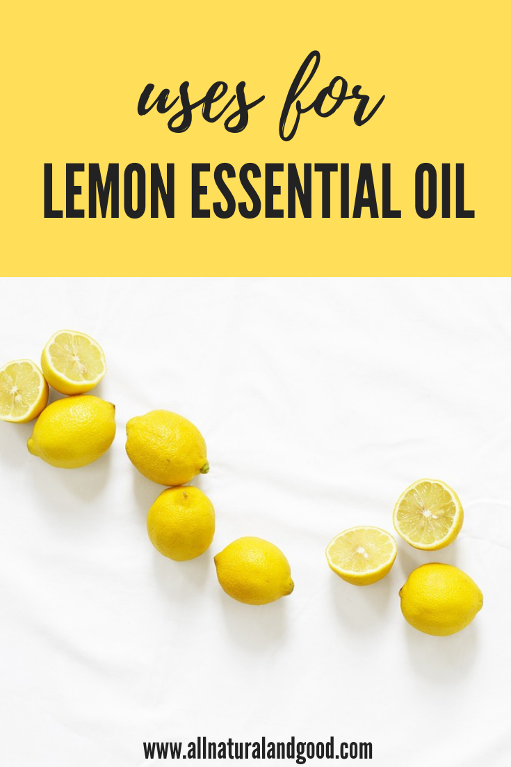 Household and beauty uses for lemon essential oil and recipes using lemon essential oil.