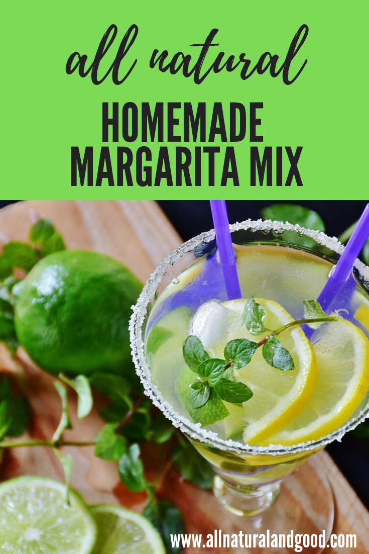This homemade natural margarita mix recipe is way better for you than anything you\'ll find at the store. Skip the additives, high fructose corn syrup and preservatives in bottled margarita mix by making your own at home. It is even tastier, fresher and healthier.