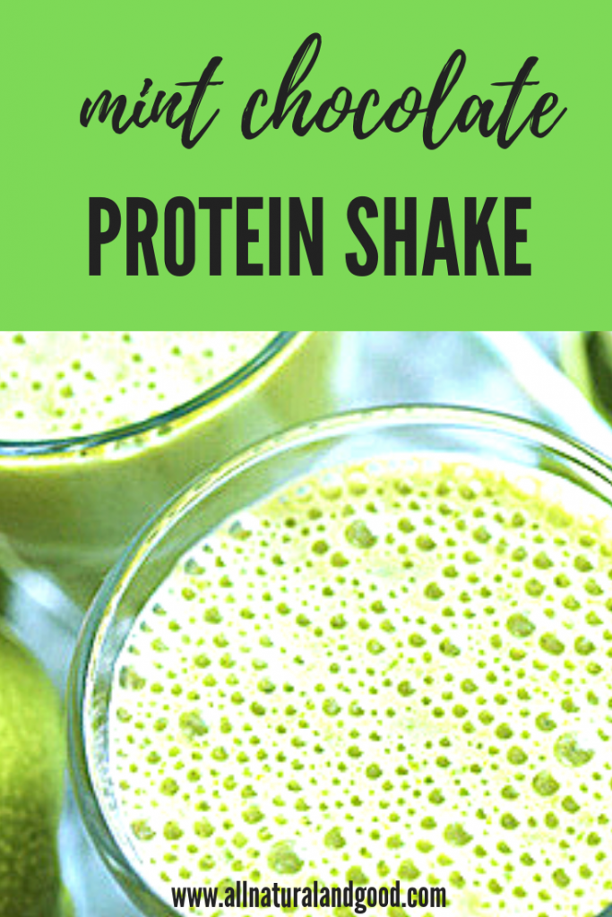 Mint Chocolate Protein Shake Using Peppermint Oil