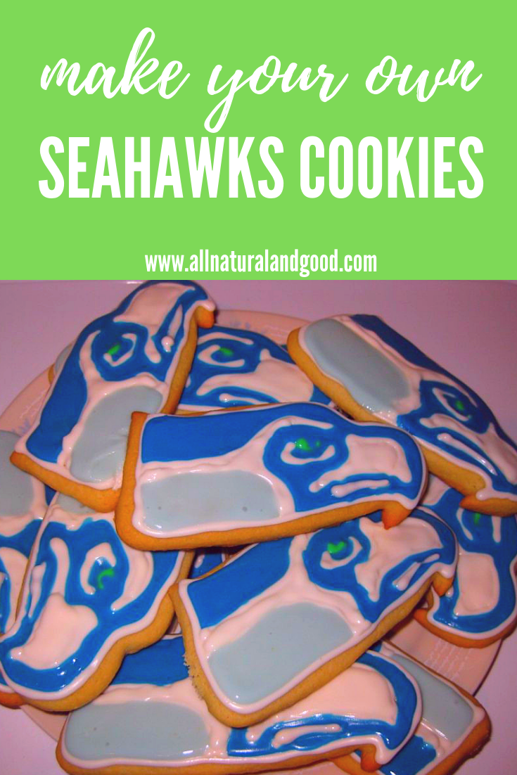 Make your own homemade Seattle Seahawks cookies for NFL and Superbowl season!