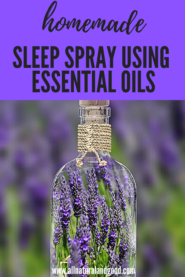 Lavender essential oil creates a natural calming effect in this homemade sleep spray. Spritz it on your linens before bedtime.