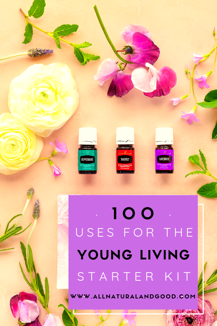 100 ways to use the Young Living essential oils premium starter kit.