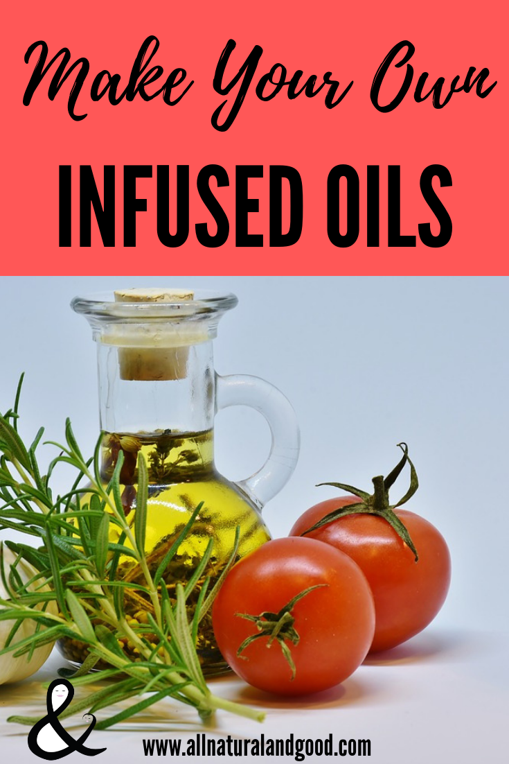 Make your own homemade infused oils for cooking or topical use. I love infusing my oils with herbs or essentials oils!