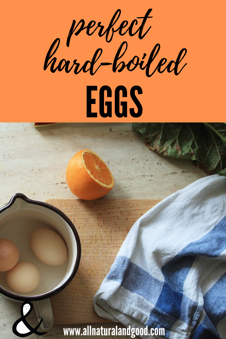 This recipe is for perfect hard boiled eggs with yellow yolks and soft egg whites without tasting like sulfur.