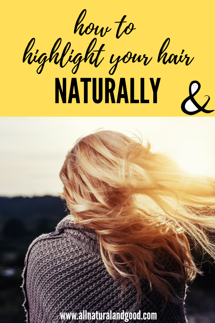 Here is how you can highlight your hair naturally at home if you are on a tight budget or looking for a natural alternative to chemicals and synthetic dyes. This DIY homemade hair lightener spray works well in the sun. #naturalhighlights #hairlightener #naturalhaircare