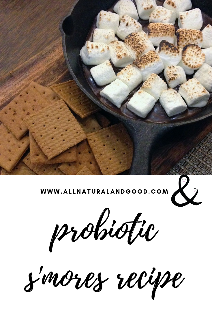 This probiotic s'mores recipe is too good! Who knew s'mores could be both tasty and great for your gut? Enjoy this favorite campfire recipe while benefiting from probiotics!