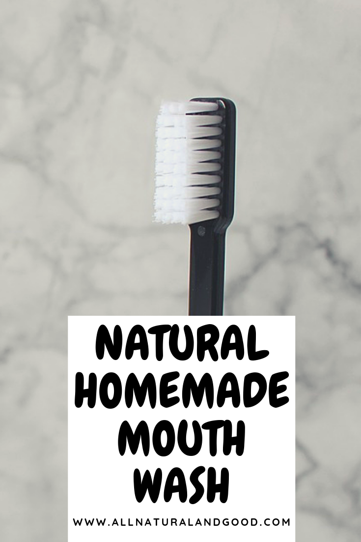 This all natural homemade mouthwash is made with only natural ingredients.