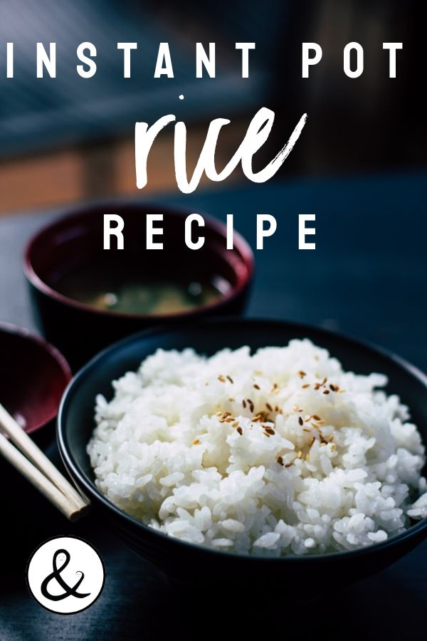 Rice is a cheap, easy side dish that can be cooked fast and easy in the instant pot. Here is an instant pot rice recipe! #rice #instantpot