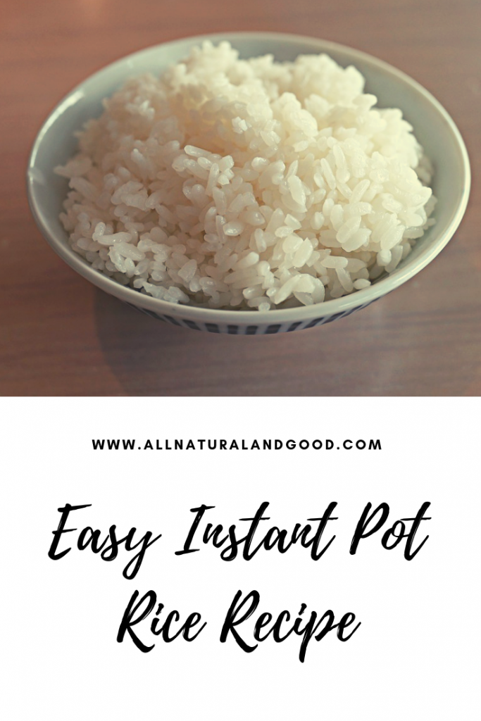 Easy Instant Pot Rice Recipe