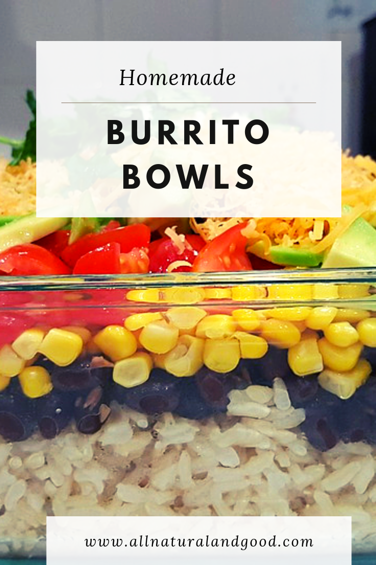 Homemade burrito bowls are a cheap, healthy and easy to make family meal. There are so many variations of burrito bowls from vegan or vegetarian to adding your favorite meat. #burritobowls #familymeals #mexicanfood