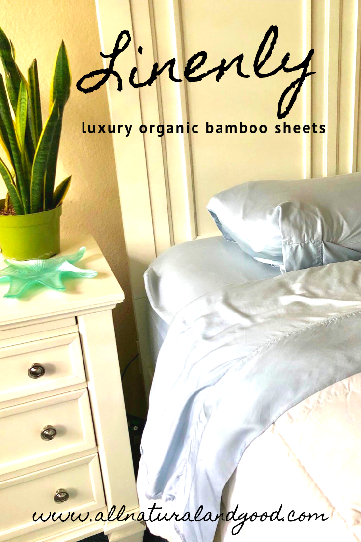 Linenly luxury organic bamboo sheets are antibacterial, hypoallergenic, Oeko-Tex certified, soft, breathable and sustainable linens. #organicbedding #bamboosheets #hypoallergenicsheets