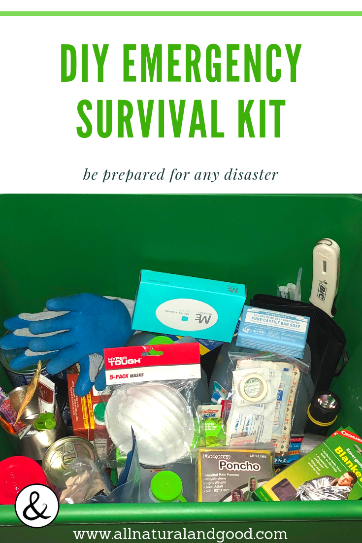 While earthquakes are a big concern in California right now, there are many other natural disaster emergencies that can arise at any time, without any time to prepare. Whether you live in fire danger areas or your town is at risk for hurricanes, tsunamis, flooding or other emergencies disasters, this kit is helpful to have handy in case of any emergency. #survival #preparedness #emergencykit