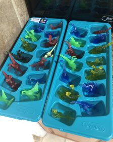 Dinosaur Ice Cubes Sensory Activity