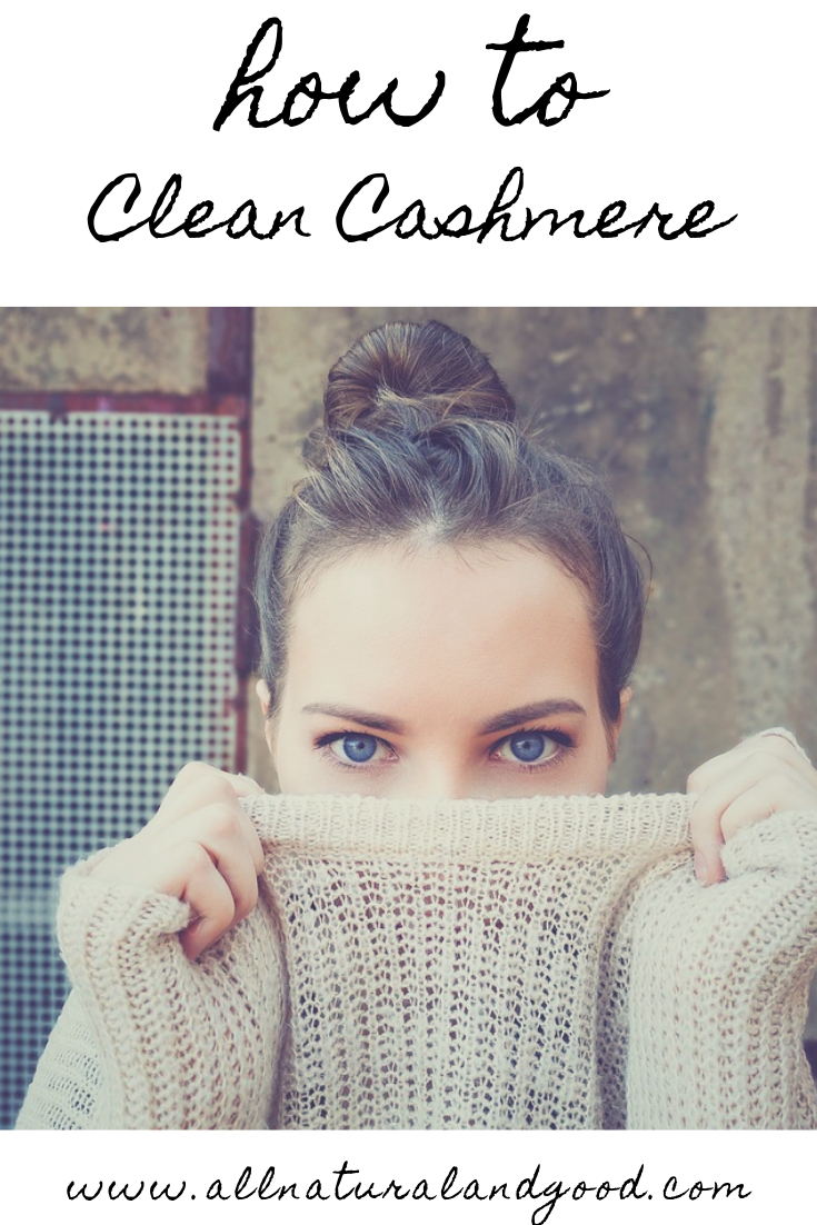 How to clean cashmere sweaters, coats and scarves at home without spending money at the dry cleaners or ruining your luxurious fabrics. #cashmere #cleancashmere #cashmeresweater