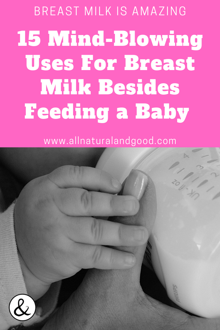 From breastmilk jewelry to treating skin ailments, there is no reason to ever throw breast milk away. There are some mind-blowing uses for breast milk besides feeding a baby. Check out these 15 alternative uses for breast milk that are truly amazing! #breastmilk #breastmilkuses #breastmilkfacts