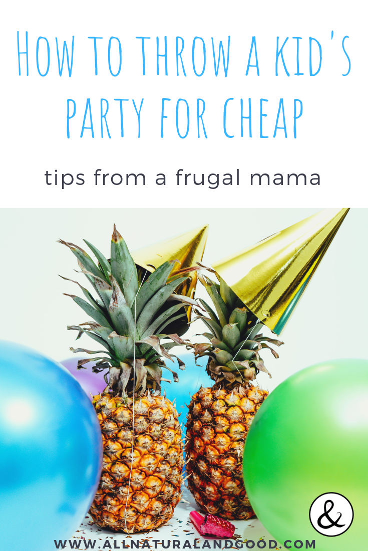 How to throw a kid\'s birthday party for cheap without compromising the fun. Check out my unique birthday party theme ideas and how I did most of my shopping at the dollar store. #birthdayparty #kidsparty #partythemes