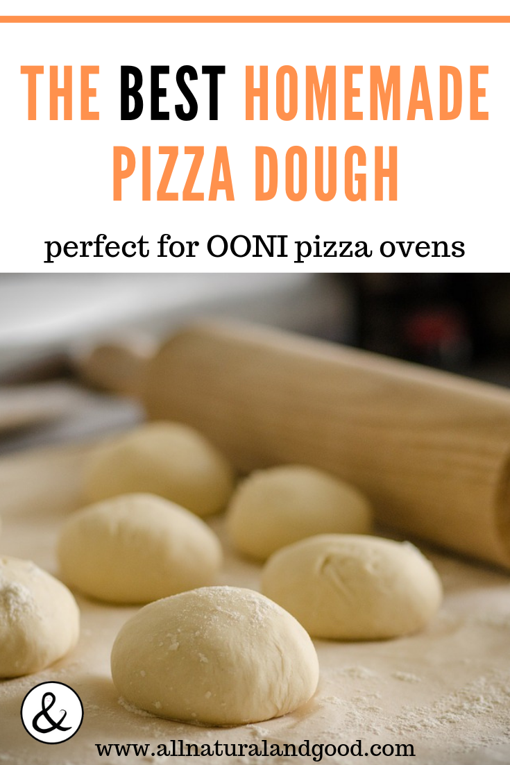 Homemade OONI (UUNI) pizza oven pizza dough recipe for wood-fired and authentic Neapolitan style pizzas right at home. This recipe is compatible with OONI (previously UUNI) pizza ovens, as well as for making any kind of homemade pizzas at home. This OONI pizza oven dough recipe is so good and fun to make! #pizzaoven #pizza #pizzadough