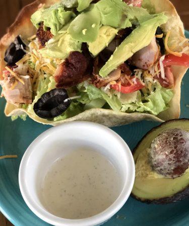 Taco Salad With Homemade Tortilla Shell Bowls