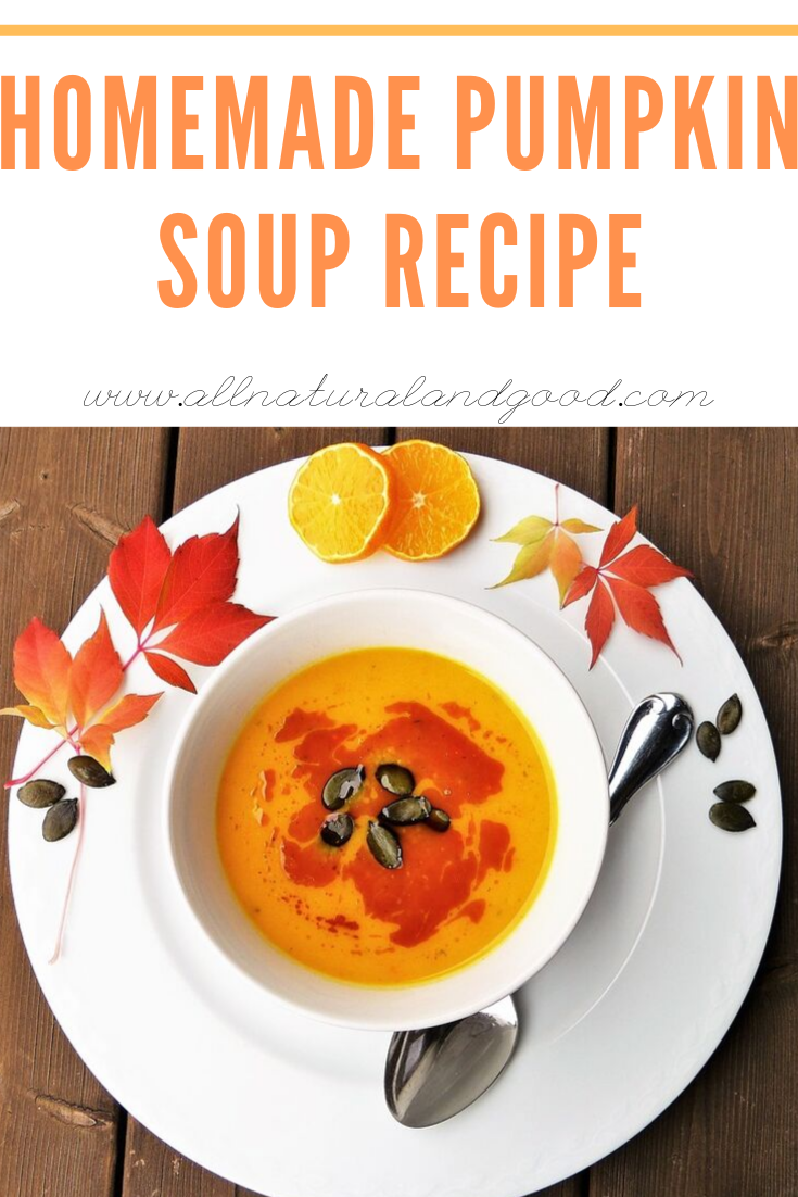 It is finally pumpkin season which means - pumpkin everything! I\'m not into the pumpkin spiced lattes as I am into recipes using real pumpkin like this homemade pumpkin soup recipe. This isn\'t made with canned pumpkin, but a real pumpkin straight from the source. #pumpkin #pumpkinrecipes #pumpkinsoup