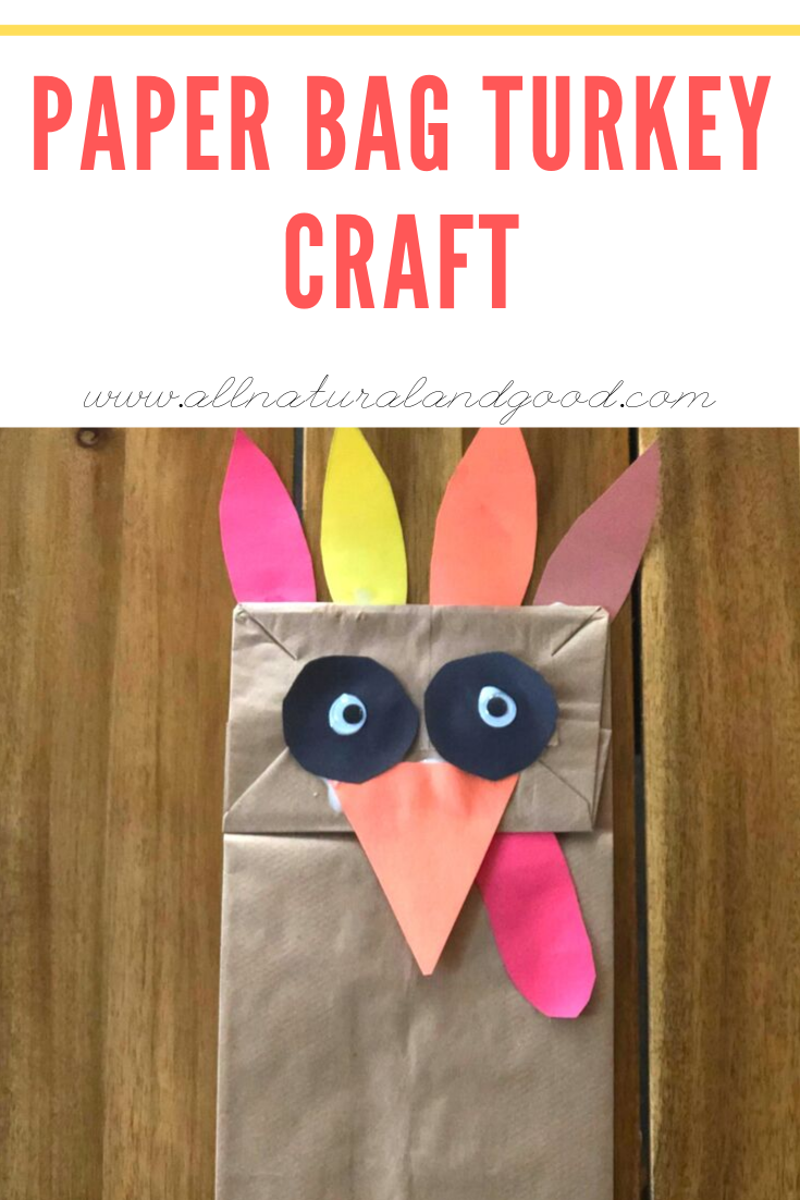 This paper bag turkey craft is perfect for keeping the kids busy during the holidays. Fall crafts are so much fun and makes for a festive Thanksgiving. #holidaycraft #fallcraft #thanksgivingcraft