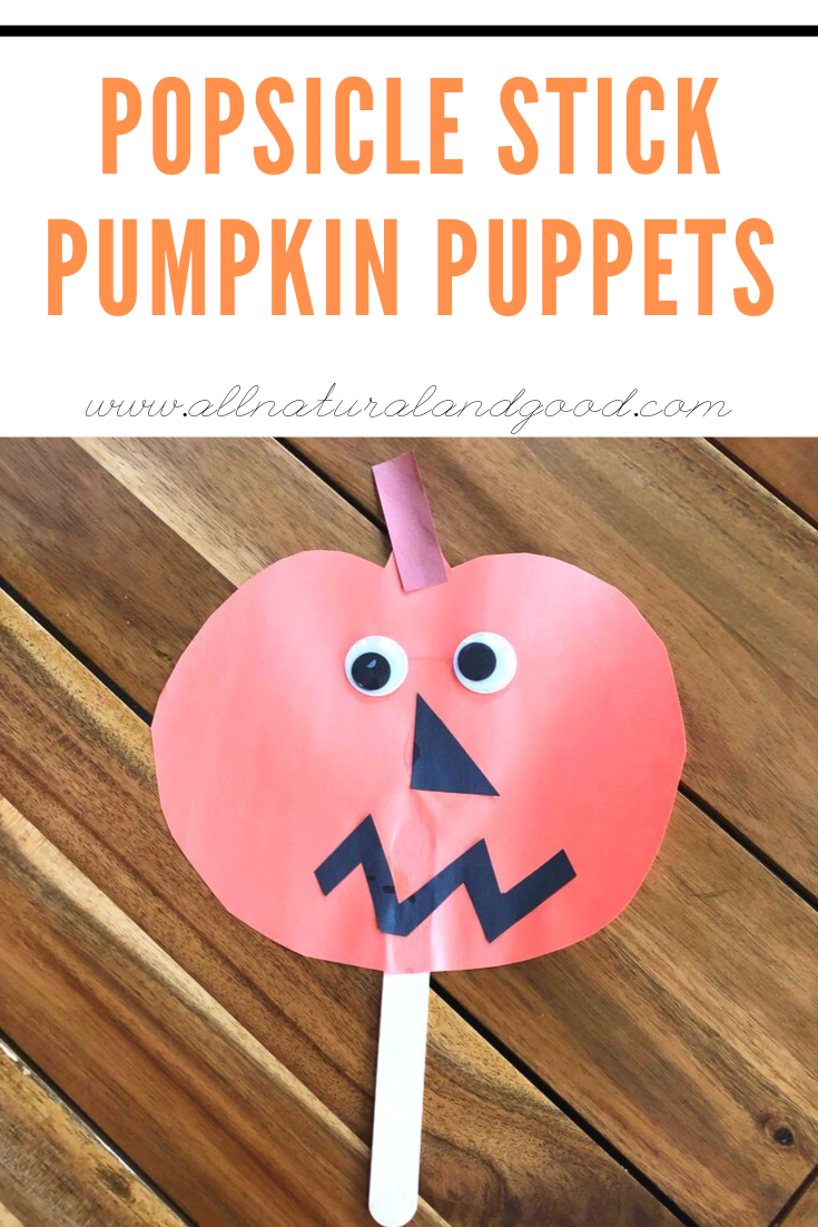 How cute are these popsicle stick pumpkin puppets as a fall craft for kids?!? I love everything about fall - from the fun crafts and decor to homemade soups and stews. #pumpkincraft #fallcraft #pumpkins